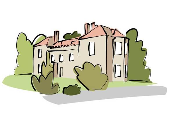 Drawing of Marshwood Farm
