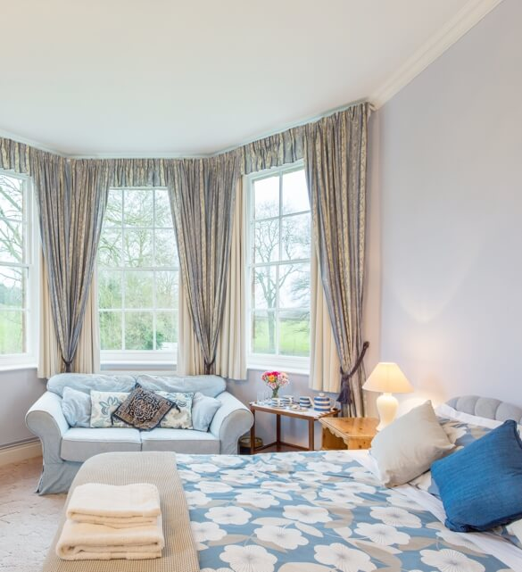 Our accommodation: Internal photo of one of the bedrooms at Marshwood Farm